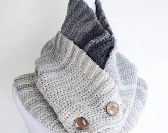 Crochet Scarf Pattern - Mens Crochet Scarf Pattern Winter DIY Scarf Womens Crochet Pattern Easy Crochet Scarf - Wintery Shadows Scarf P142