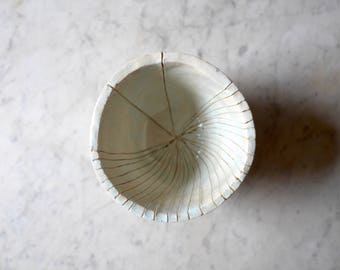 Small pale celadon green plant pot or deep bowl