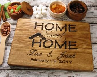 Personalized Cutting Board, Housewarming Gift, Home Sweet Home, Hostess Gift, House warming Gift, New Home, Cutting Board Personalized
