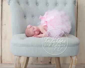 Pink Tutu Dress | Newborn Tutu | Newborn Dress | Birthday Tutu | Baby Tutu Skirt | Birthday Tutu | Strawberrie Rose | 1st Birthday Tutu