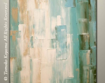 """Original Abstract Painting on Gallery wrapped Canvas 24"""" x 30"""", Home Decor, Wall Art by Tomoko Koyama"""
