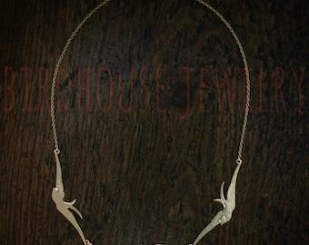 Vogelhaus-Schmuck - Gold dreifach Bird Halskette