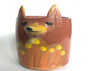 Red Fox Planter Bowl