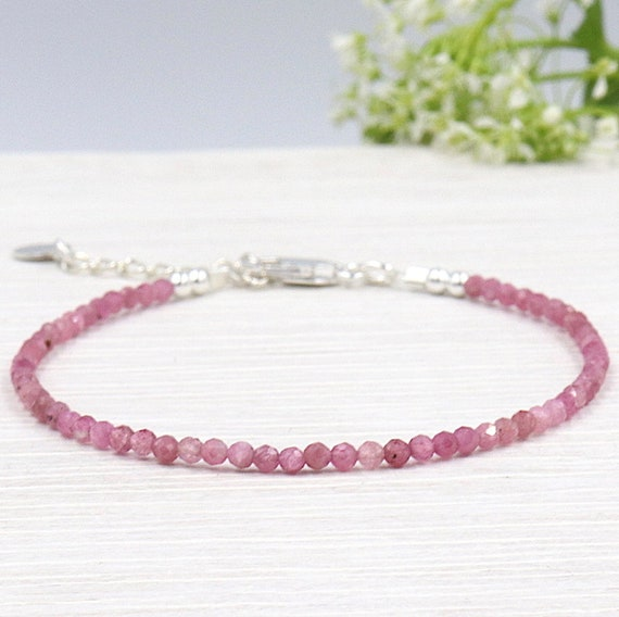 fine tourmaline gems woman pink faceted bracelet