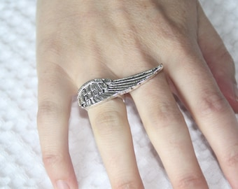 Erin Wasson Silver Tone Wing Ring