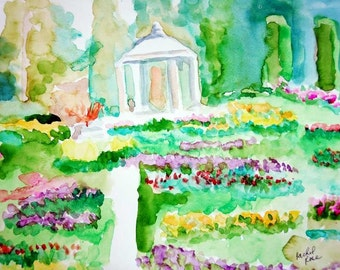 Quick View of ducan gardens in Manito park giclee print