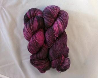 Pink Nova on MCN fingering weight yarn