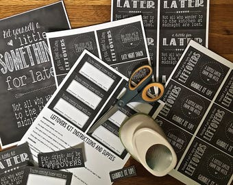 Leftovers To-Go 5 Sheets of Cardstick Labels | Thanksgiving | Friendsgiving | To-Go | To Go | Left Overs