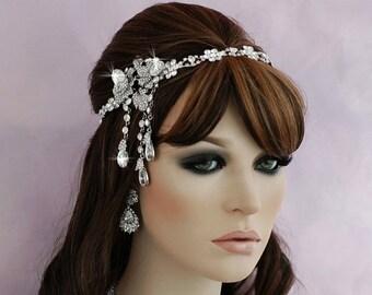 GATSBY Headband Headpiece Vintage Style Great Gatsby Daisy Headband Art Deco Headpiece 1920's Flapper Head Hair Piece Bridal Headpiece