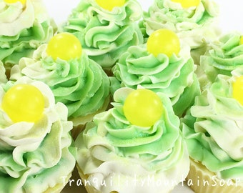 LIMONCELLO Soap Cupcakes Cupcake Soap Favors Birthday Gift Women Gift For Kids Artisan Soap Mothers Day Gift Soap Handmade Cold Process Soap