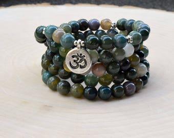Meditation Mala Bead Bracelet Necklace, 108 Mala Bead, Mala Bead, Mala Bracelet, Meditation Bracelet, Gemstone Prayer Bead Bracelet, Gift