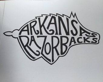 Arkansas Razorback Print