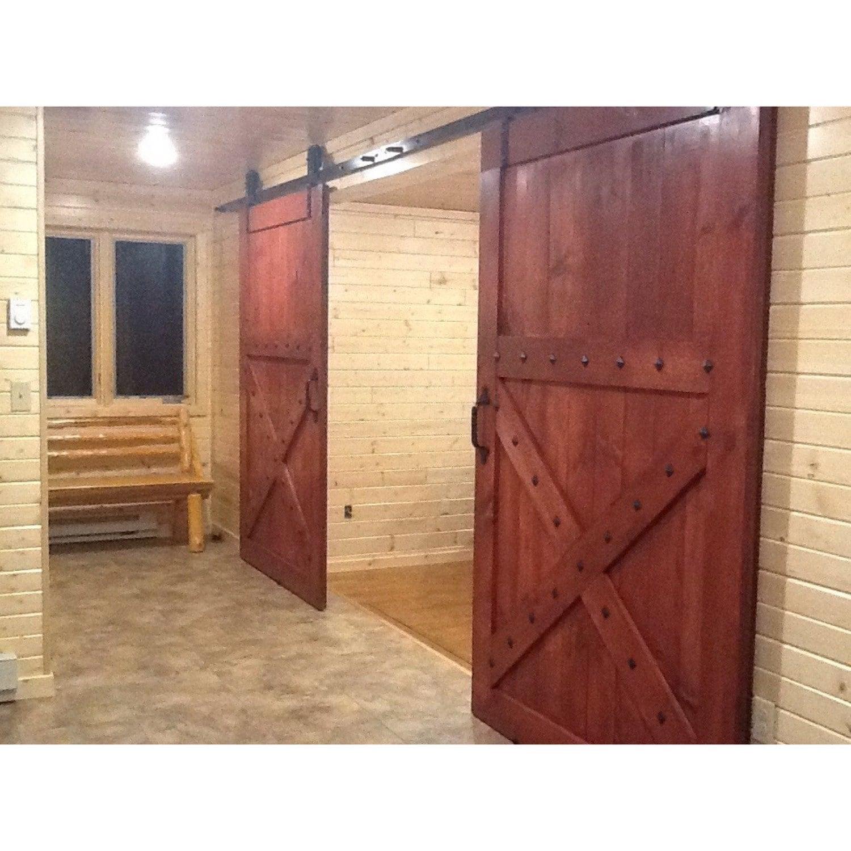 🔎zoom  sc 1 st  Etsy & Spanish Design Sliding Barn Door Half X Design Sedona Red