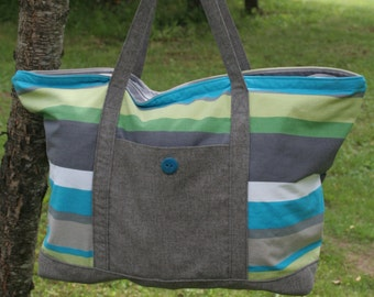 Extra Large Tote Bag, Beach Bag Pattern PDF Instant Download