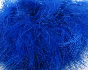 Marabou feathers Dark Blue 30 Mrdq-17 craft feathers wispy Craft feathers boutonnieres fly tying crafts