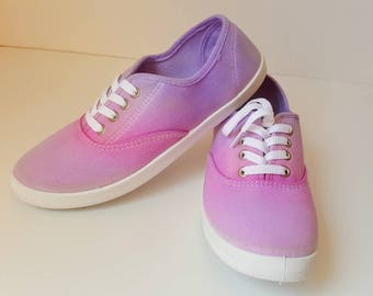Tie Dye Shoes Size 8 / Canvas shoes / Handmade Shoes / Mens Canvas Shoes / Canvas Shoes Women