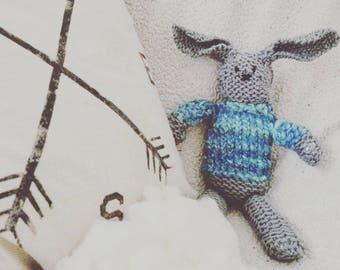 Handknit Stuffed Bunny