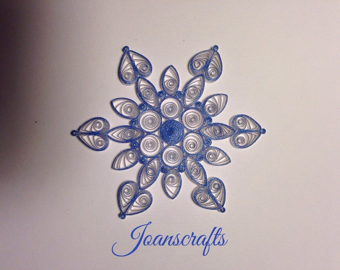 Sparkling Blue Quilled Snowflake Ornament
