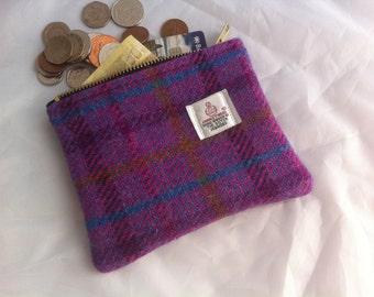 Harris tweed coin purse pouch
