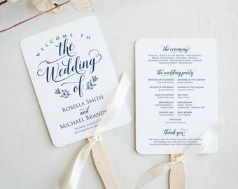 wedding program fans wedding program fan etsy 30759