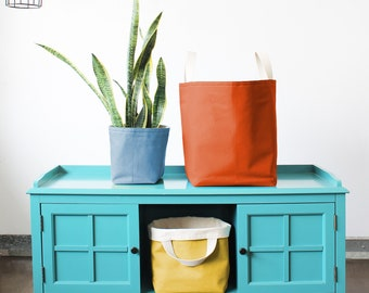 Canvas Bucket Totes (more sizes + colors)