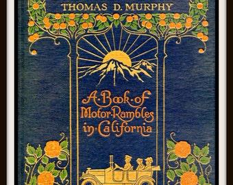 "Vintage Book Cover Print ""On Sunset Highways"" originally published 1915 - Giclee Art Print - California Art Print"