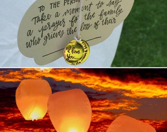 Sky Lantern + Psalm 36:5 Sympathy Gift; Grief Care; In Memory of Gift; Comfort Gift; Thinking of you Gift; Funeral Gifft;Condolences