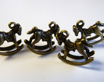 Bronze Rocking Horse Charms