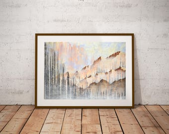 Mountain Landscape Downloadable Art Print - Instant Digital Download - Nature Art Print - 3 Sizes Included