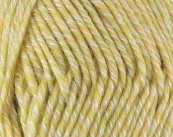 Chunky Melody Keylime Green Yellow Wool Blend Yarn Bulky 100g/skein