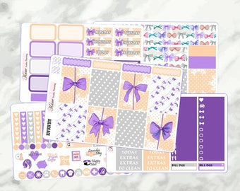 Bow Bow Bows // Weekly Kit - Erin Condren Life Planner Vertical 165+ stickers
