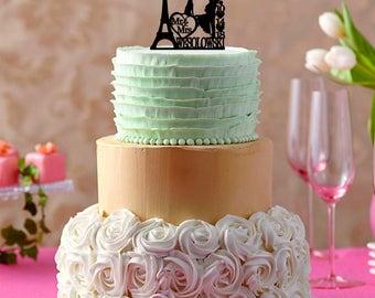 Paris cake topper Etsy
