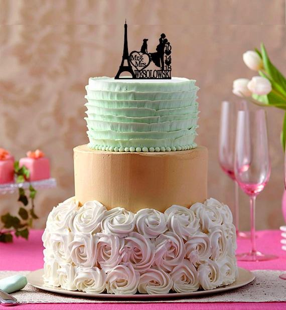 Eiffel Tower Wedding Cake Topper