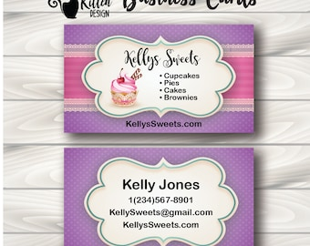 Bakery Business Cards, Cupcake Business Cards