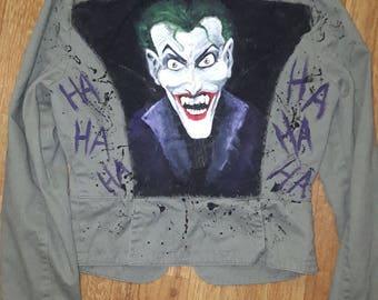 OOAK Handpainted Women's Joker Jacket