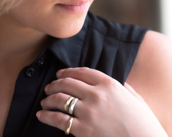 Arcadia Ring - Cast Solid Bronze - Faceted Ring