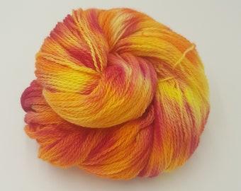 Hand Dyed 4ply Falkland Merino Wool - Lava