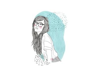 Illustration personnalisée (portrait de couleur)