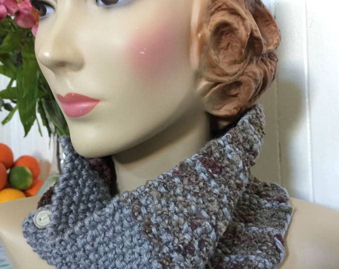 Woolpops Hand Knit Understory Pullover Scarf