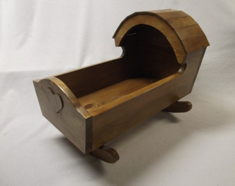 Amish style Wooden Doll Cradle