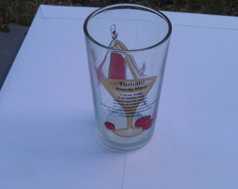 Tomato Bloody Mary Glass Tumbler