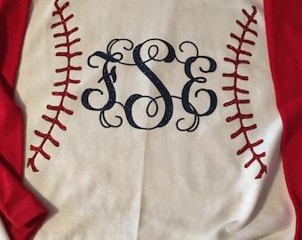 Monogram Baseball Iron On / Baseball iron on / baseball decal / monogram baseball / Baseball shirt / sport shirt