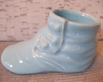 Baby Boy Blue Ceramic Bootie