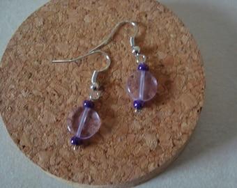 Fancy purple violet earrings