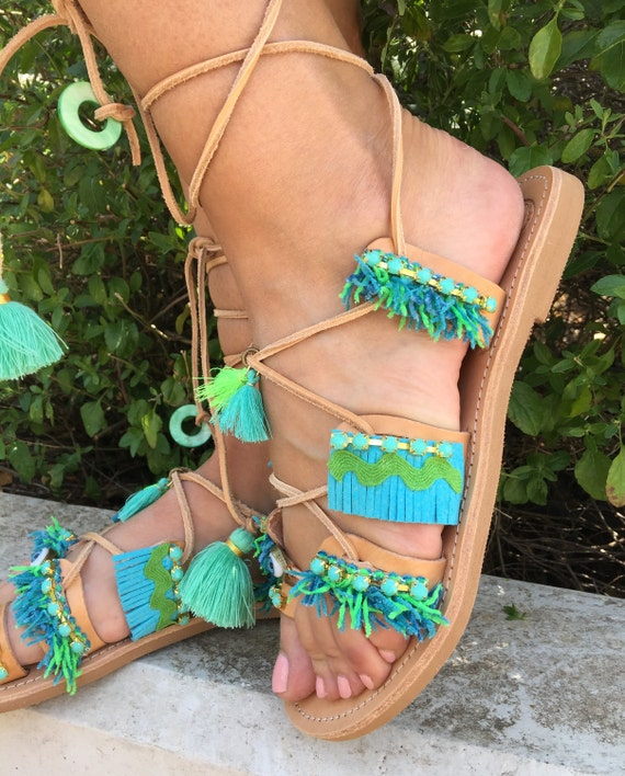 sandals greek sandals craft Ancient Greek Summer Greece sandals Gladiator Boho Eye Made Egst sandals in Evil Handmade Leather A1qcRxRdF