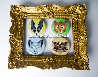 Warrior Cats Button Pack - Leaders