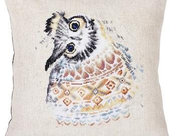 Pillow Indian Owl SPB161 - Cross Stitch Kit by Luca-s