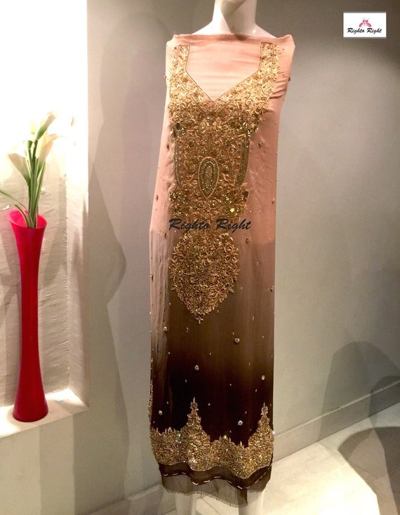 Shalwar Free Wedding Tailored Pakistani Kameez Custom Shipping Made Indian Party Ready Dress Wear rwrPqF