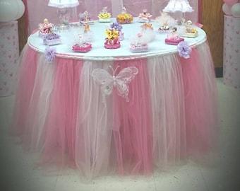 tulle Tutu table skirt Baby shower , Birthday