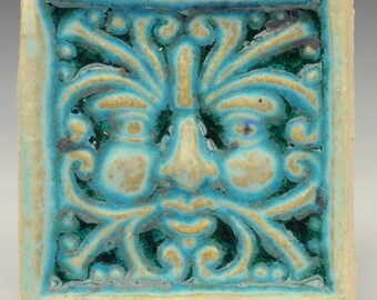 Wind Greenman Tile